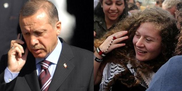 Başkan Erdoğan'dan Ahed Tamimi'ye telefon