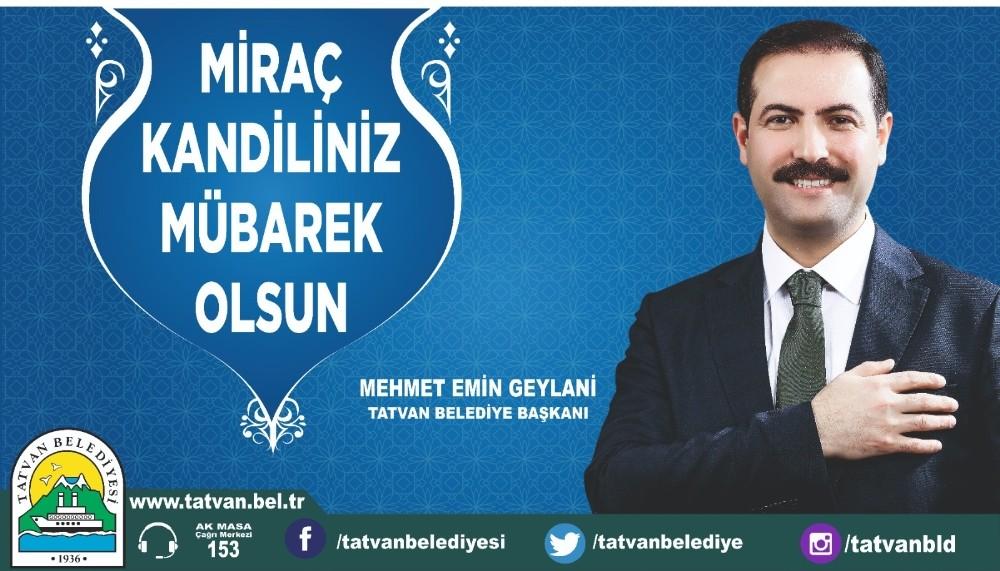 Başkan Geylani'den Miraç Kandili mesajı
