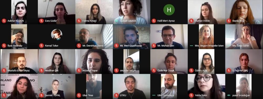 Başkan Gümrükçü online toplantıda gençlerin sorularını cevapladı