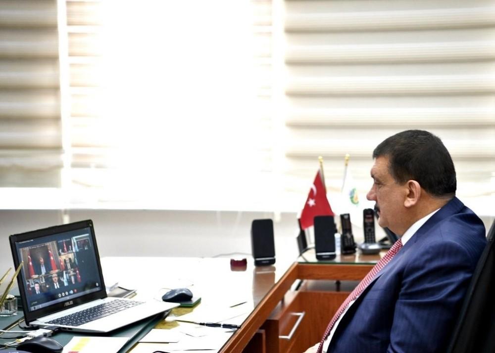 Başkan Gürkan, Malatya'dan video konferansa katıldı
