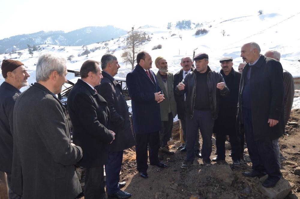 Başkan Karataş'tan Oltu ilçesine geçmiş olsun ziyareti
