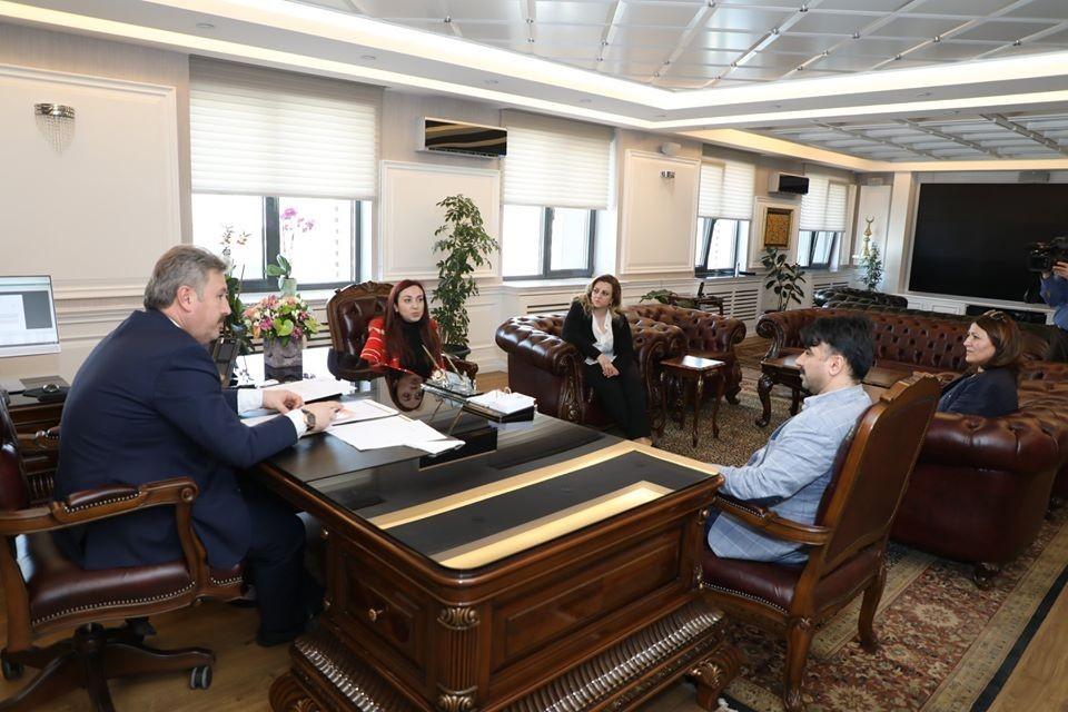 Başkan Palancıoğlu Alzheimer Derneği'ni misafir etti