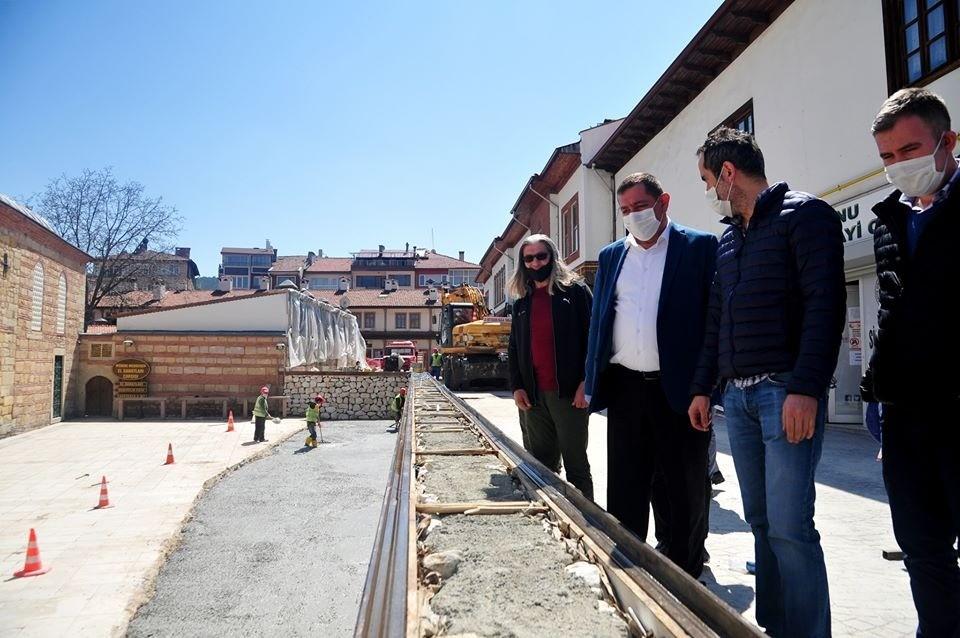 Başkan Vidinlioğlu, Belediyenin çalışmalarını yerinde inceledi