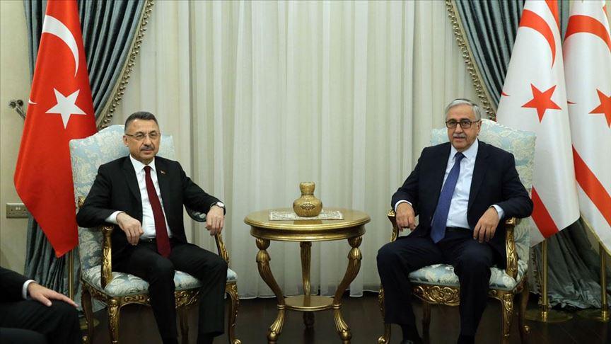 Başkan Yardımcısı Oktay, Akıncı ile görüştü