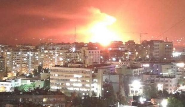 Başkent Şam'a hava saldırısı düzenlendi!