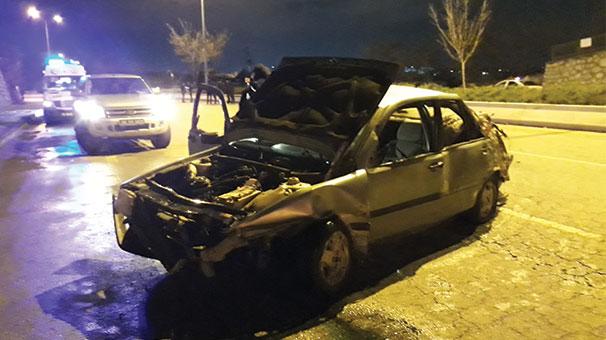 Başkentte trafik kazası: 1 ölü, 1 yaralı