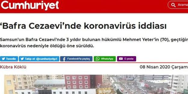Başsavcılık devrede! Cumhuriyet'in 'koronavirüs' yalanı deşifre oldu