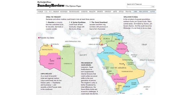 Batı medyasının Ortadoğu haritası