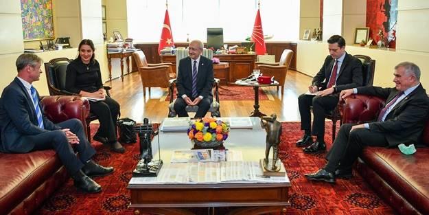 Batılı büyükelçiyle görüşen Kılıçdaroğlu, monşerini de yanına almayı unutmadı! Yine Türkiye'yi mi şikayet ettiniz?