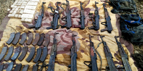 PKK'nın gömülü silahları bulundu