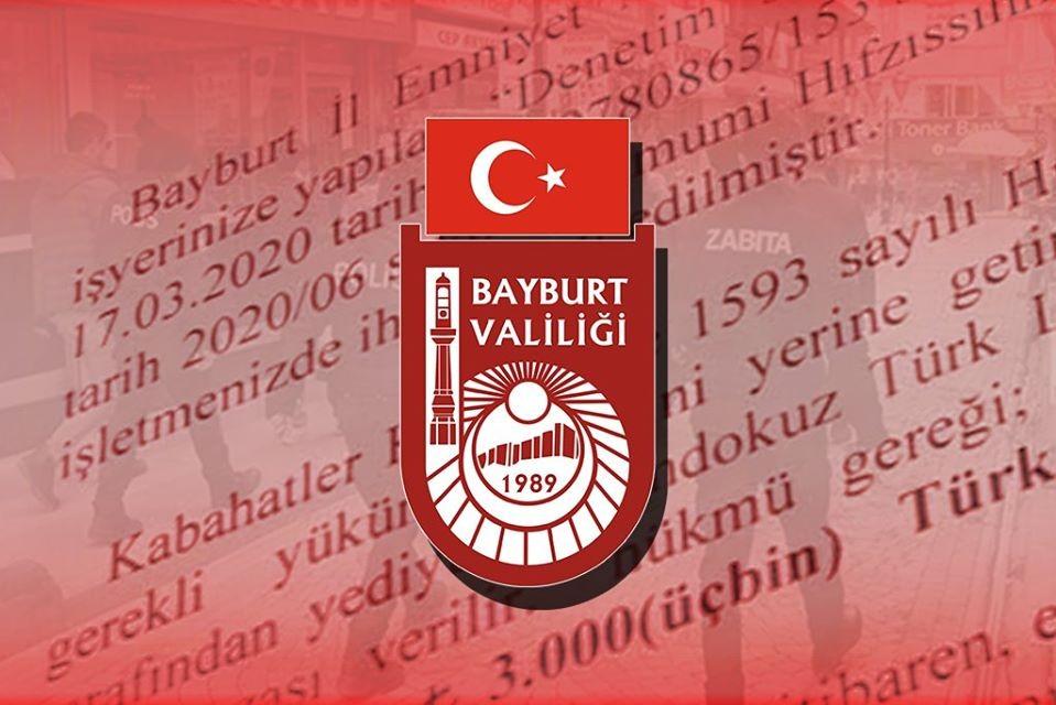 Bayburt'ta tedbirlere uymayan işletmelere para cezası kesildi