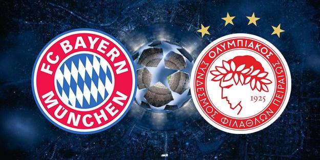 Bayern Münih Olympiakos maçı ne zaman saat kaçta hangi kanalda?