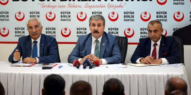 BBP Lideri Destici: Eğer İdlib düşerse, Türkiye'nin Afrin'den çekilmesini isteyecekler