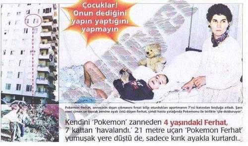 ''Ben Pokemon'um'' deyip camdan atlamıştı: İşte son hali