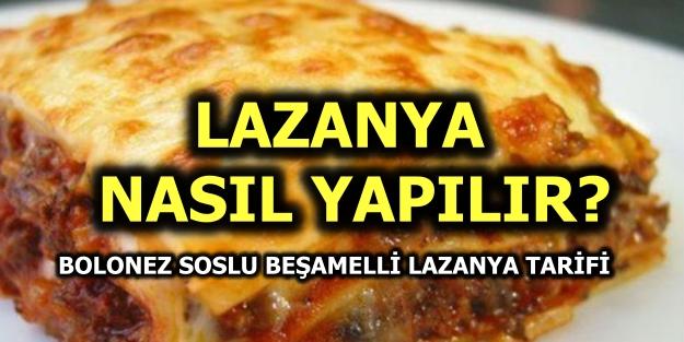 Beşamelli bolonez soslu lazanya tarifi, malzemeleri Masterchef Lazanya hamuru nasıl yapılır?