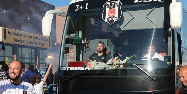 Beşiktaş kafilesi Gaziantep'e hareket etti