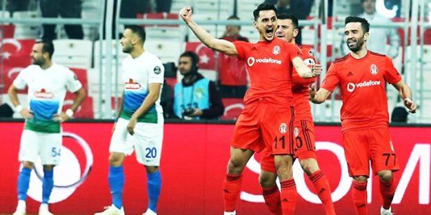 Beşiktaş, Rizespor'u rahat geçti