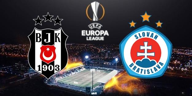 Beşiktaş Slovan Bratislava UEFA maçı ne zaman saat kaçta ve hangi kanalda?