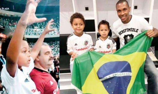 Beşiktaşlı Marcelo'nun oğlu Diogo tribünden düştü!
