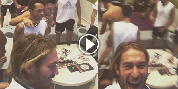 Beşiktaşlı oyuncular 'B grubu'na böyle sevindi