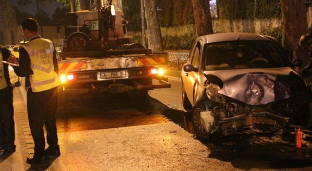 Beşiktaş'ta kaza: 2 kişi yaralı