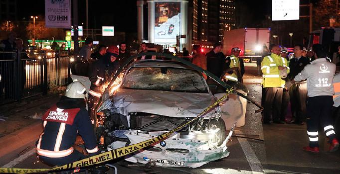 Beşiktaş'ta trafik kazası: 1 ölü 1 yaralı