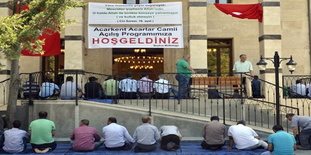 Beykoz Acarkent ilk camisine kavuştu