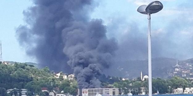 İstanbul Beykoz'da korkutan yangın!