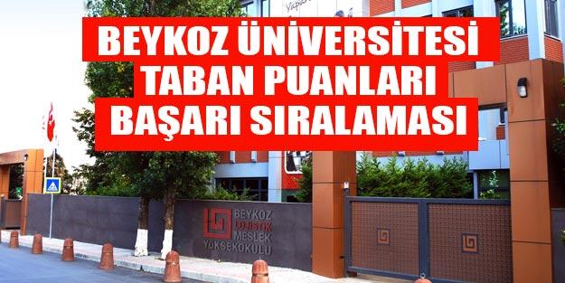 Beykoz Üniversitesi taban puanları 2019