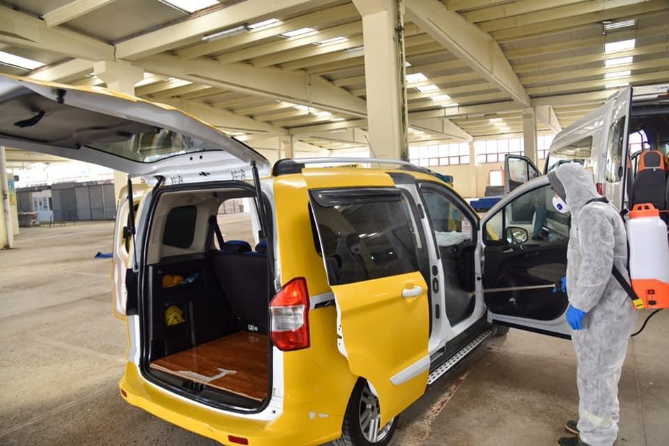 Bilecik'te 400 araç korona virüsüne karşı dezenfekte edildi