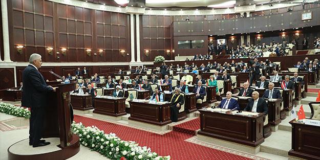 Binali Yıldırım, Azerbaycan Milli Meclisi'nde Azerbaycan Türkçesiyle konuştu