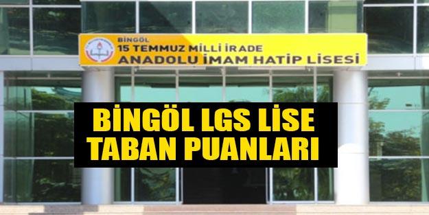 Bingöl liseleri 2019 taban puanları yüzdelik dilimleri 2019 LGS MEB