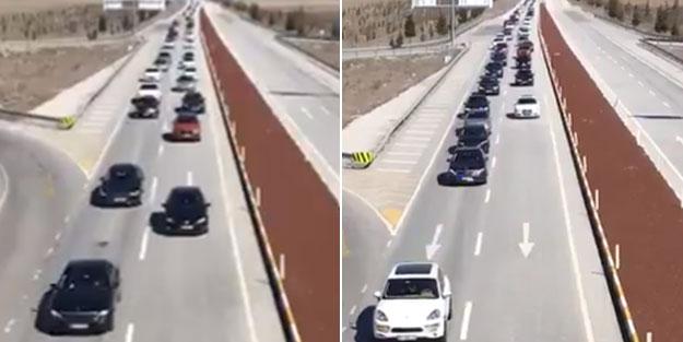 """""""Binlerce araçlık konvoy karşıladı"""" denen Davutoğlu için bakın kaç otomobil geldi"""