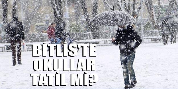 Bitlis'te okullar tatil mi? Bitlis'te 3 Aralık kar tatili açıklaması var mı