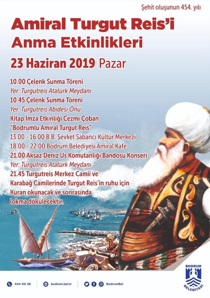 Bodrum'da Amiral Turgut Reis anılacak