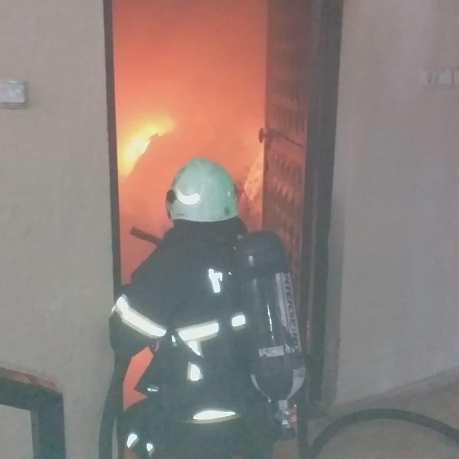 Bodrumda çıkan yangın korkuttu
