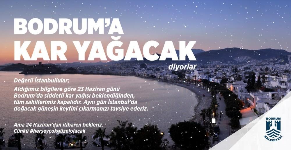 Bodrum'da kar var paylaşımı sosyal medyada rekor kırdı