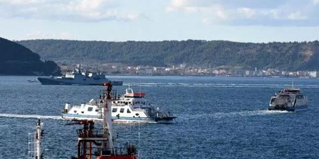 Boğaz'da hareketli anlar! Rus savaş gemileri ile Türk savaş gemisi...