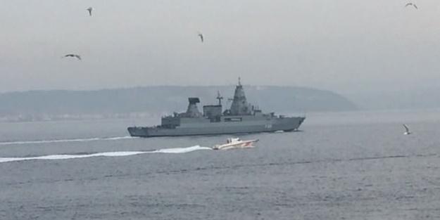 Boğaz'da hareketli dakikalar! Rus savaş gemisinden sonra NATO savaş gemisi...