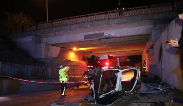 Bolu'da köprüden uçan araçtan kurtulan olmadı
