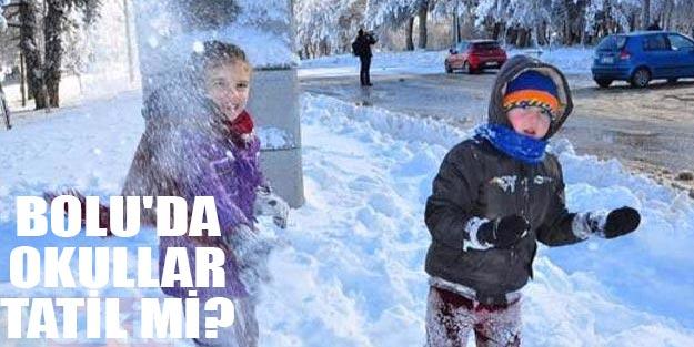 Bolu'da okullar tatil mi? 5 Aralık Bolu'da yarın okullar tatil mi?