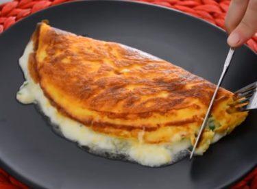 Börek tadında 3 malzemeli omlet tarifi