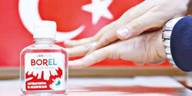 BOREL'e teveccühün belgesi 4 milyon şişe dezenfektan satıldı