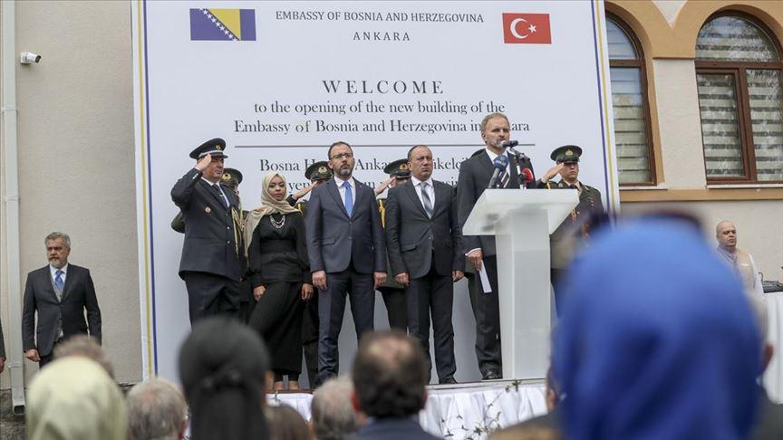 Bosna Hersek'in yeni büyükelçilik binası açıldı
