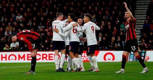 Bournemouth Liverpool maçı kaç kaç bitti?