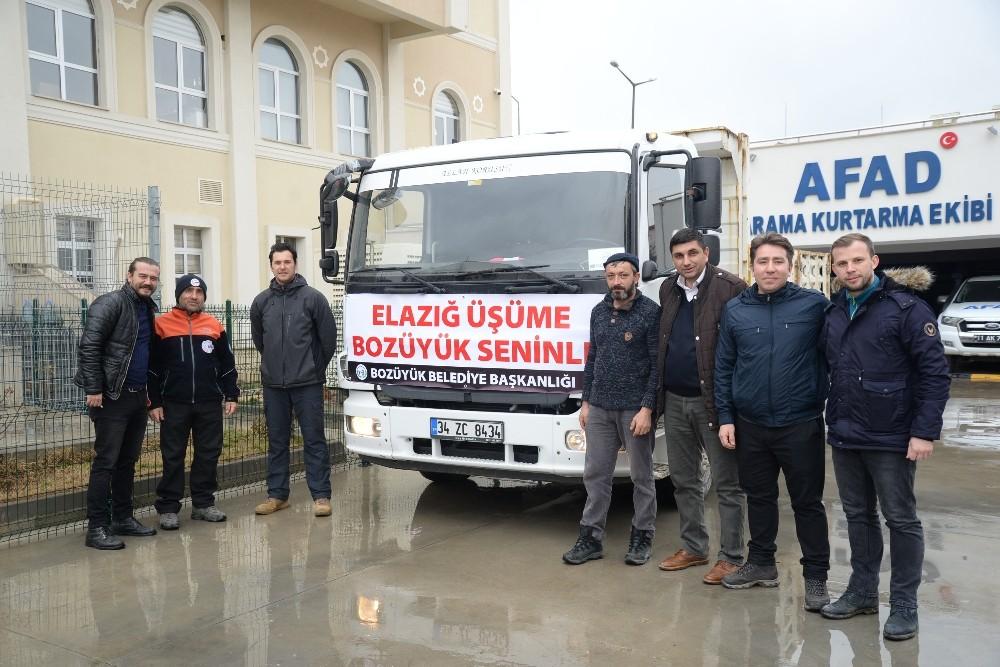 Bozüyük'te toplanan yardımlar AFAD'a teslim edildi