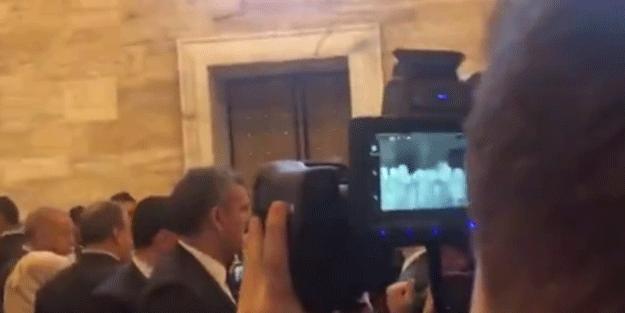Bu görüntüler dikkat çekti! Başkan Erdoğan'a koronavirüs önlemi