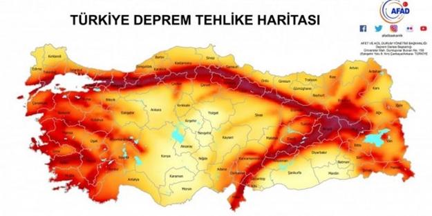 Bu illerde yaşayanlar dikkat! İşte Türkiye'nin yeni deprem haritası