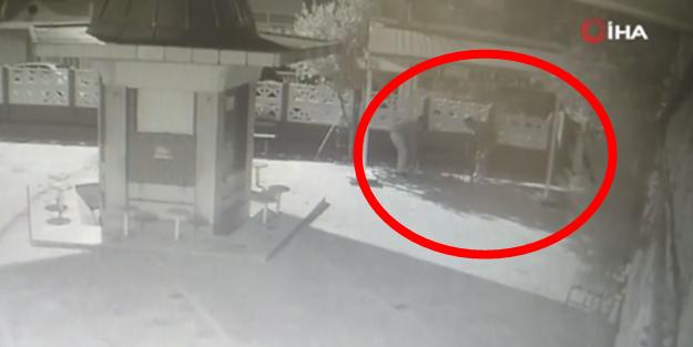 Caminin bankını çalan hırsızlar aranıyor