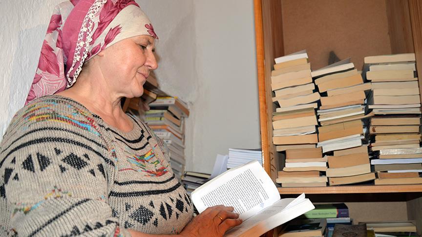 Bu kadın 3 bin kitap okudu!